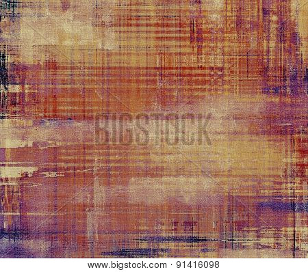 Grunge background with vintage and retro design elements. With different color patterns: yellow (beige); brown; purple (violet); red (orange)