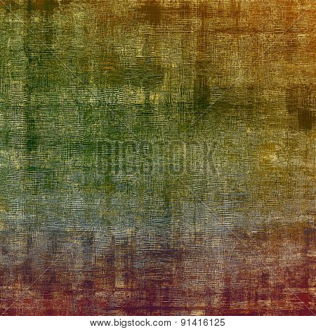 Grunge texture, distressed background. With different color patterns: brown; gray; purple (violet); green
