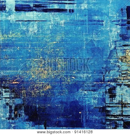Grunge background with space for text or image. With different color patterns: yellow (beige); blue; cyan