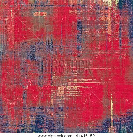 Grunge texture, Vintage background. With different color patterns: gray; pink; blue; red (orange)