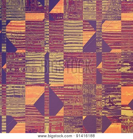 Old retro vintage texture. With different color patterns: yellow (beige); gray; purple (violet); pink