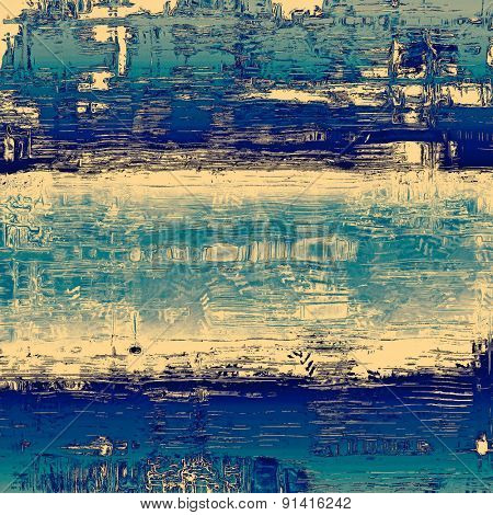 Old school textured background. With different color patterns: yellow (beige); gray; blue; cyan