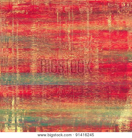 Grunge texture, may be used as background. With different color patterns: brown; pink; red (orange); green