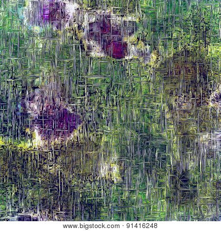 Vintage texture for background. With different color patterns: brown; purple (violet); blue; green