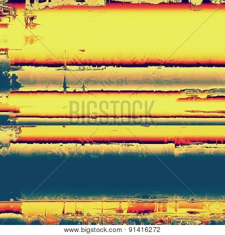 Retro background with grunge texture. With different color patterns: yellow (beige); blue; red (orange)