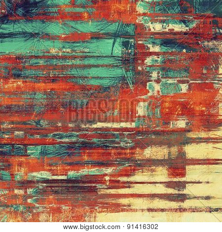 Grunge old texture as abstract background. With different color patterns: yellow (beige); brown; blue; red (orange)