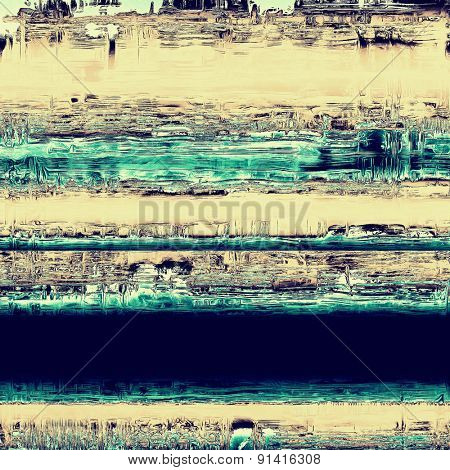 Dirty and weathered old textured background. With different color patterns: yellow (beige); gray; blue; cyan