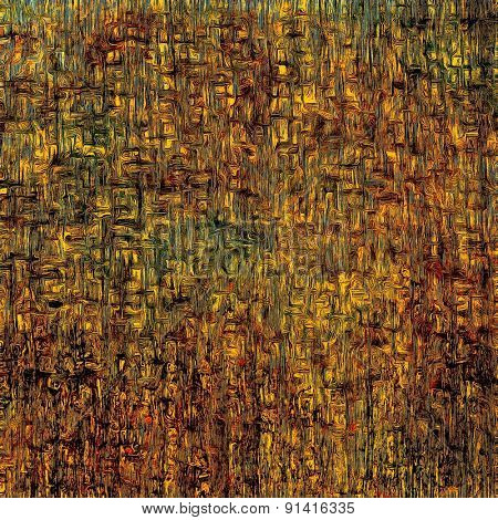 Grunge texture, distressed background. With different color patterns: yellow (beige); brown; green