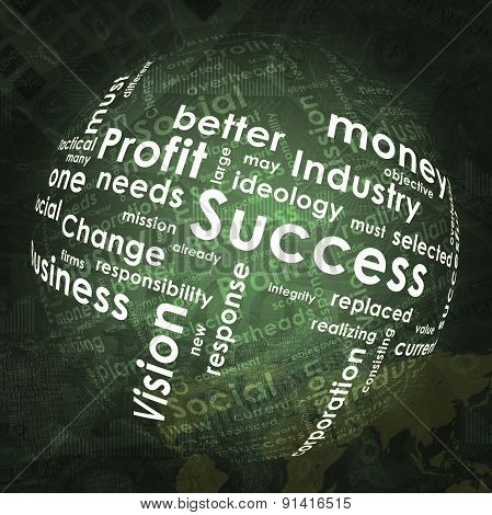 Abstract background with business words