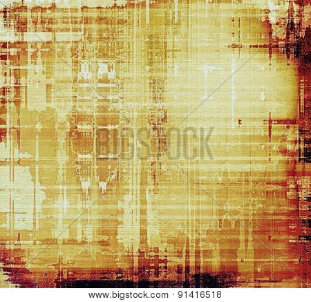 Old school textured background. With different color patterns: yellow (beige); brown; red (orange)