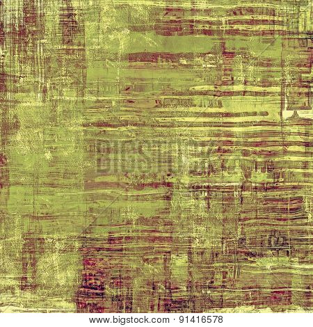 Cracks and stains on a vintage textured background. With different color patterns: brown; gray; purple (violet); green