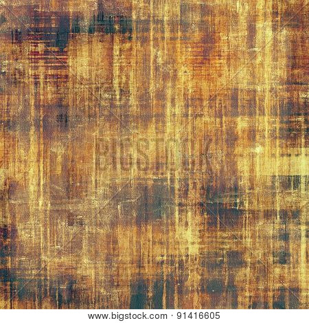 Abstract grunge background or old texture. With different color patterns: yellow (beige); brown; gray