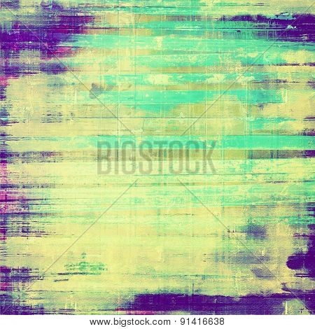 Grunge background with vintage and retro design elements. With different color patterns: yellow (beige); gray; purple (violet); blue