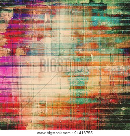 Highly detailed grunge texture or background. With different color patterns: yellow (beige); purple (violet); blue; red (orange); green