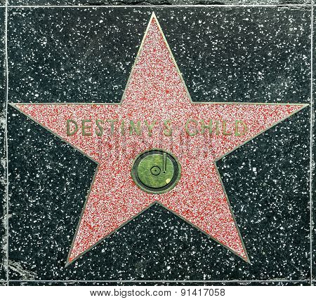 Destiny Child's Star On Hollywood Walk Of Fame