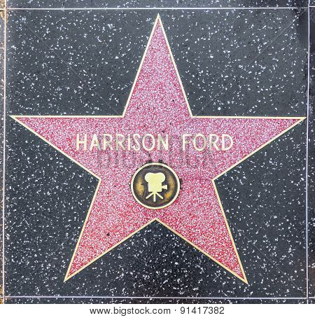 Harrison Fords Star On Hollywood Walk Of Fame