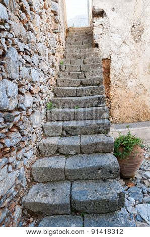 Stairs Of Ancient Monastery