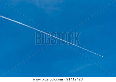 Stream Clouds In Blue Sky