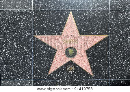 Shrek's Star On Hollywood Walk Of Fame