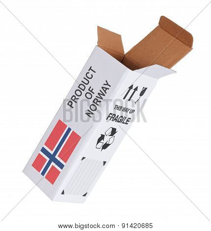 Concept Of Export - Product Of Norway