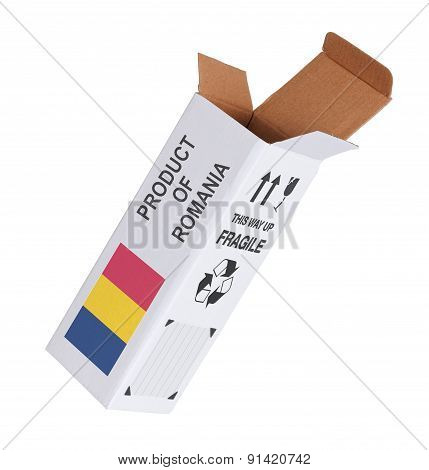 Concept Of Export - Product Of Romania