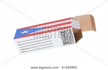 Concept Of Export - Product Of Puerto Rico