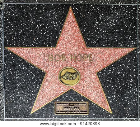 Bob Hope's Star On Hollywood Walk Of Fame
