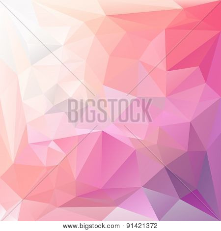 Vector Polygonal Background Triangular Design In Lovely Color