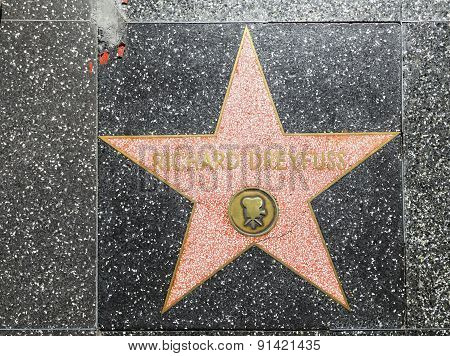 Richard Dreyfuss Star On Hollywood Walk Of Fame