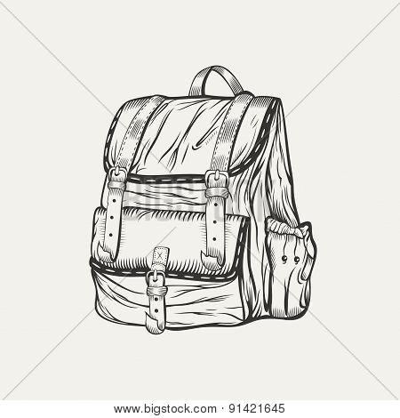 It is a illustration of backpack.