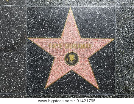 Fay Dunaways Star On Hollywood Walk Of Fame