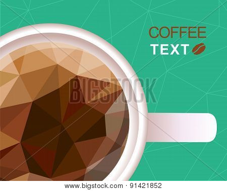 Coffee Cup Polygonal Style Background