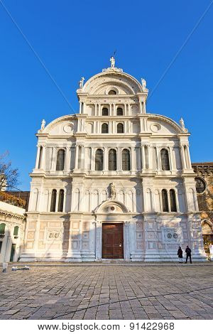 Chiesa Di San Zaccaria, St. Zacharias Church In Venice, Dedicated To The Father Of John The Baptist,