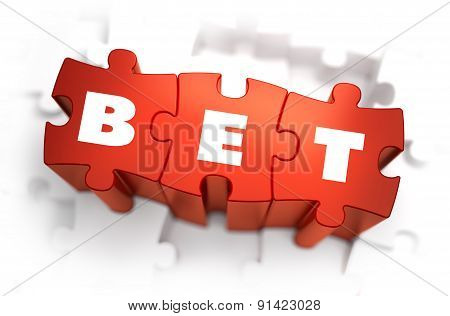 Bet - White Word on Red Puzzles.