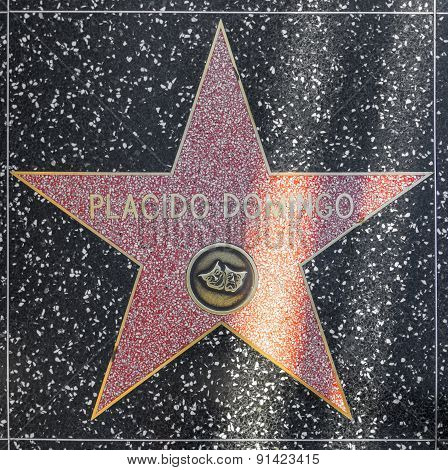 Placido Domingos Star On Hollywood Walk Of Fame