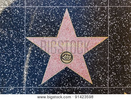 Liza Minelli's Star On Hollywood Walk Of Fame