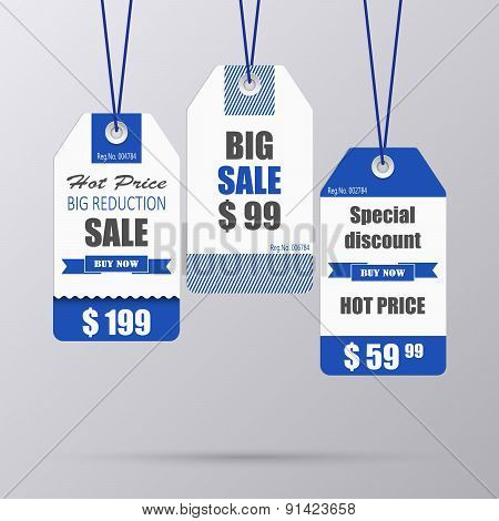 Blue Vintage Tag For Sale Template