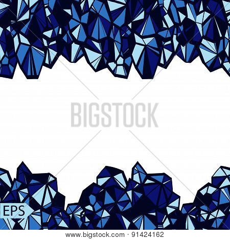 Vector of abstract crystal jewelry background.