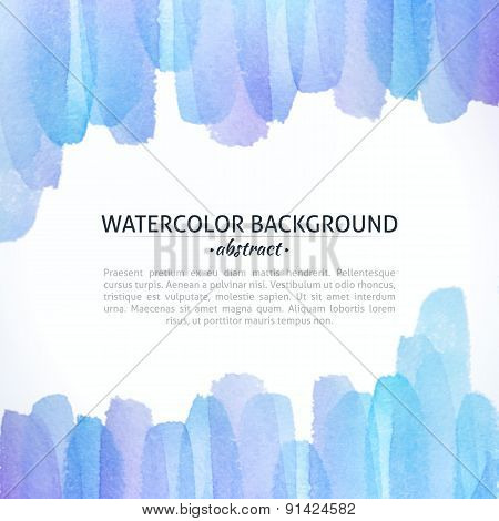 Watercolor Blue And Purple Abstract Background
