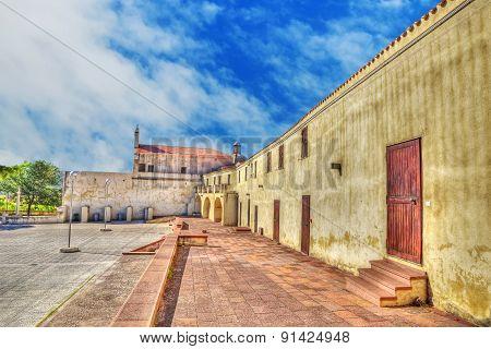 Square In Valverde Sanctuary, Sardinia