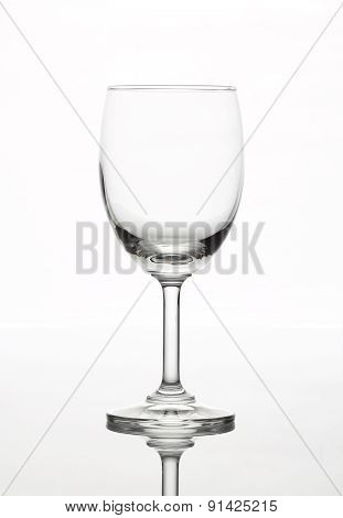 The sparking rose wine in the wine glass