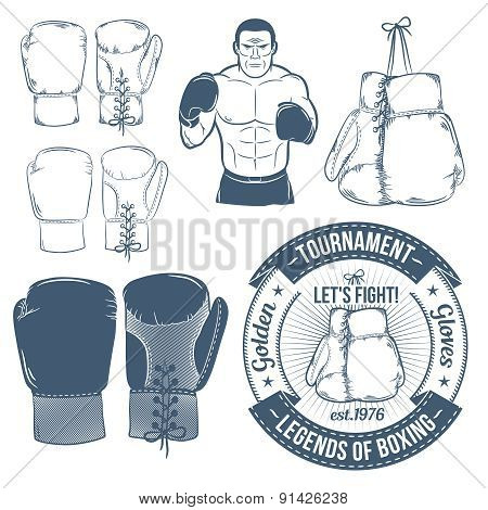 Boxing gloves, boxer, boxing logo