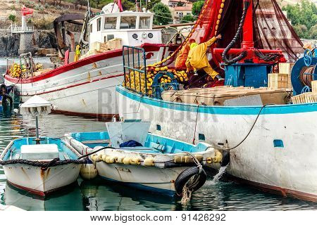 Fishing boats in Port Vendres, Southern France
