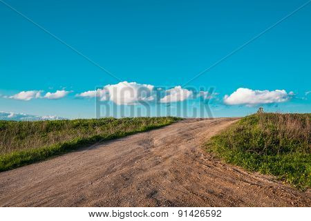 road to clouds