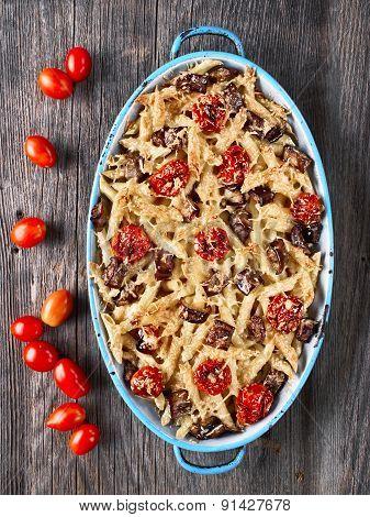 Rustic Italian Baked Penne Pasta