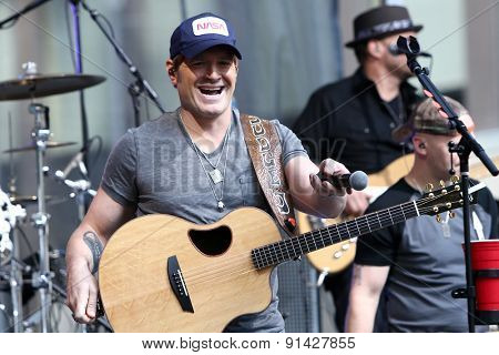 NEW YORK - MAY 22: Singer Jerrod Niemann performs at Fox and Friends' All-American Summer Concert Series on the corner of 48th Street and 6th Avenue on May 22, 2015 in New York City.