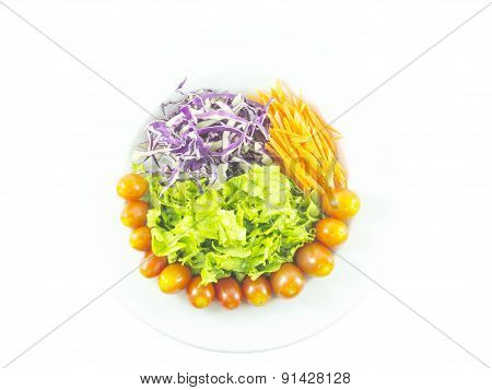 Colorful Vegetable Salad With Tomato