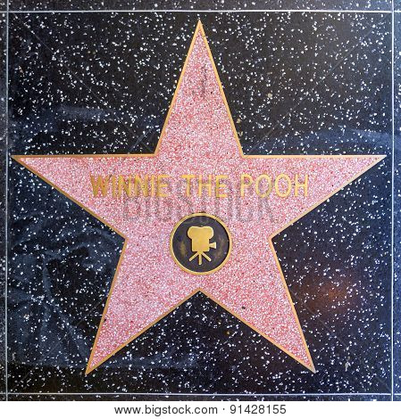 Winnie The Poohs Star On Hollywood Walk Of Fame