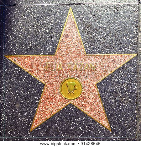 Elia Kazans Star On Hollywood Walk Of Fame