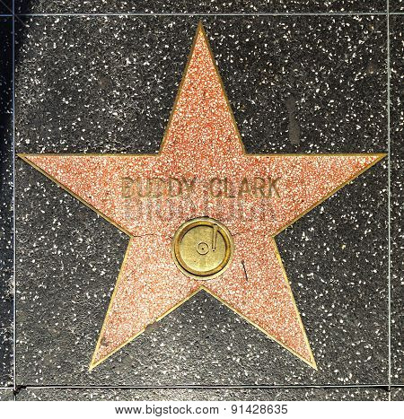Buddy Clarks Star On Hollywood Walk Of Fame